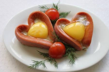 Яичница с сосисками